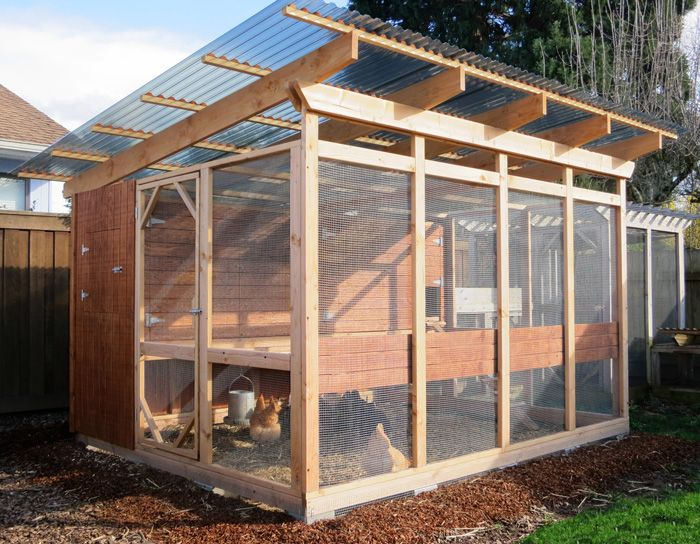 how to build a chicken coop run