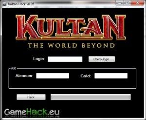 http://gamehack.eu/2012/kultan-hack-v0-95/  Kultan Hack v0.95 is a program for you if you want to be the best! The program can add to the game: aicanum and gold. The program works in a very simple way, enter the value and press a button hack. I will not dwell here, see for yourself in the video.
