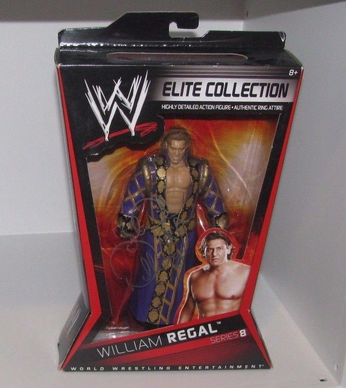 WWE Mattel Elite Collection WILLIAM REGAL Signed Wrestling Figure WWF WCW NXT