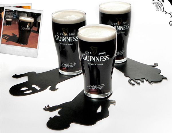 122 Must See Guerilla Marketing Examples Photo-- Guinness Halloween coasters