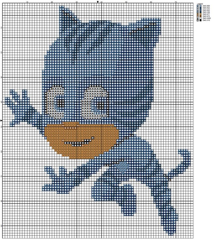 Free PJ Masks Catboy Cross Stitch Pattern by Sanorace