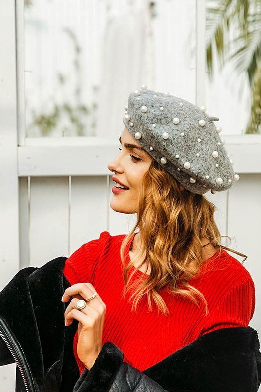 60906a807aedb Pearl Beaded Beret FREE WORLDWIDE SHIPPING  stylelimits1