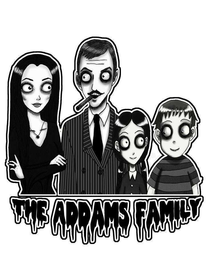 The Addams Family | Addams | Family portraits, Adams ...