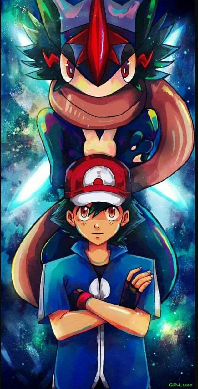 Ash And Greninja Pokemon Ash Pokemon Anime