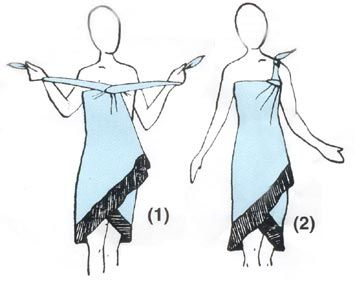 How to Tie a Sarong :: Sarong World.com Sarongs