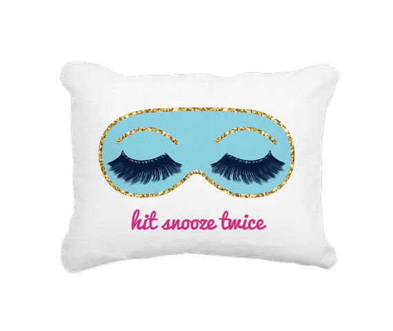 Hit Snooze Twice  Canvas Pillow  16 X 20 by HistoryinHighHeels, $34.00