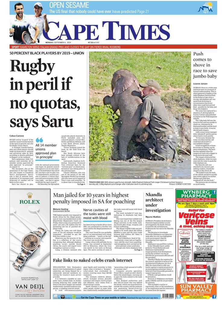 News making headlines: Rugby in peril if no quotas, says Saru