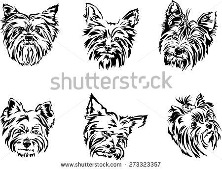 44 best yorkie outline tattoo images on pinterest yorkshire terriers dog paws and tattoo ideas. Black Bedroom Furniture Sets. Home Design Ideas