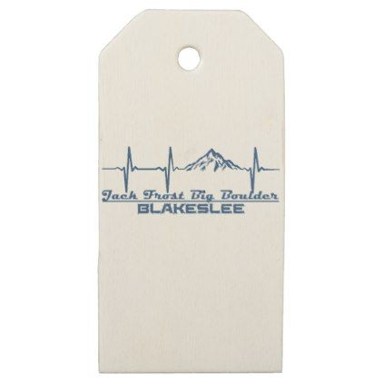 Jack Frost Big Boulder  -  Blakeslee - Pennsylvani Wooden Gift Tags - craft supplies diy custom design supply special