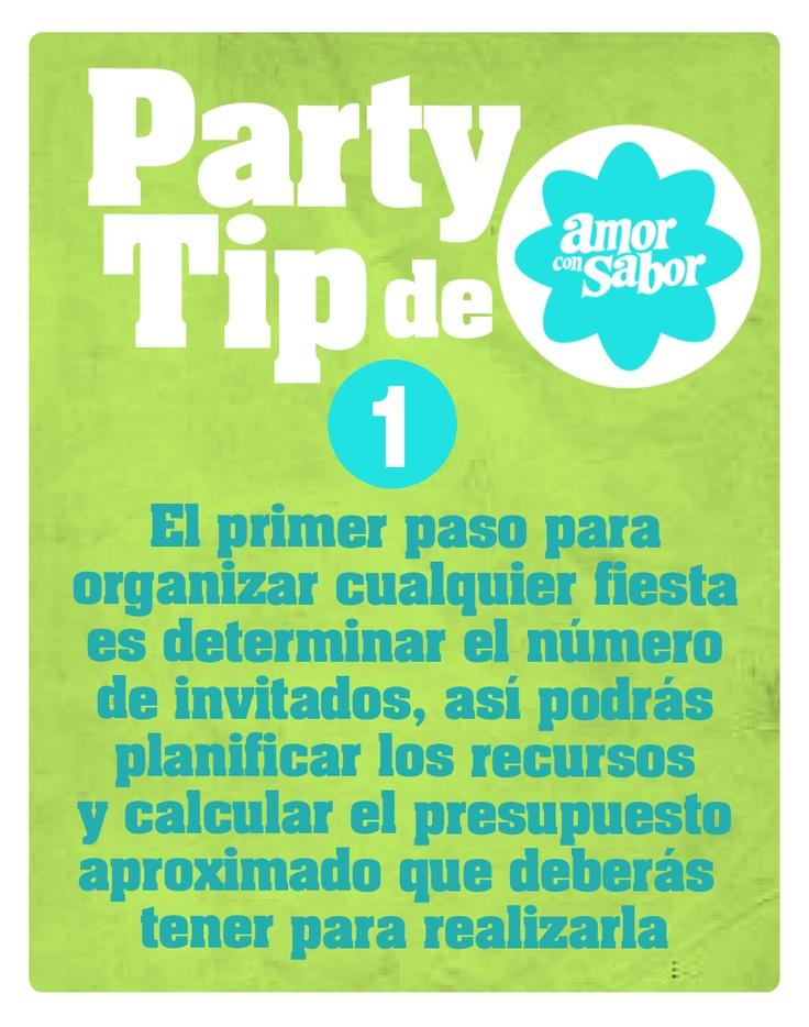 Party tip 1. Del presupuesto