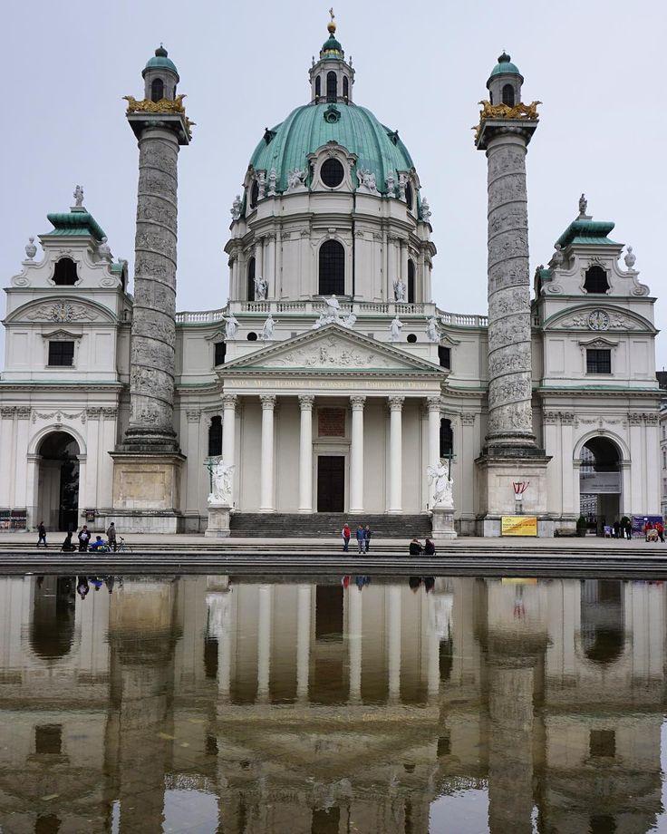Reflections of #Karlskirche in #Vienna #Austria. #monument ...