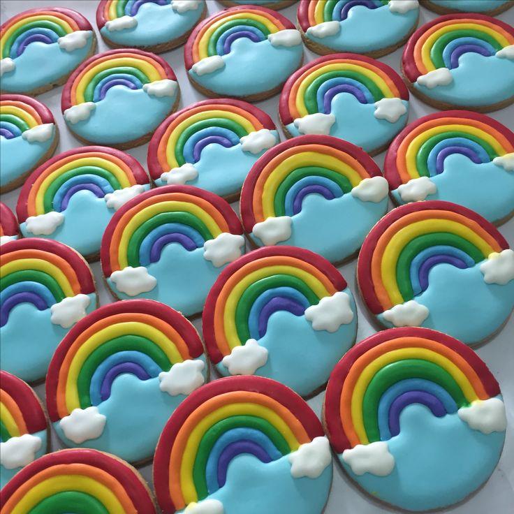 Galletas decorada arco iris