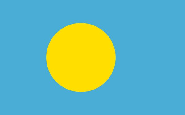 Флаг Палау. Now speaking about flags, check out this beauty from the glorious Republic of #Palau #flag #vexilology pic.twitter.com/SwWsxDUNWO