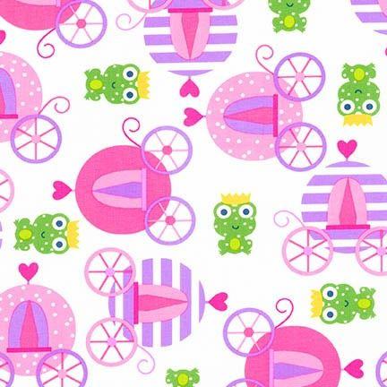 Tkanina Carriages And Frogs Robert Kaufman Craftoholic SHOP