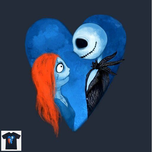 """Share with your friends :D -> """"Sally and Jack"""" designed by crumblingcookie <- #disney #todayisateeday"""
