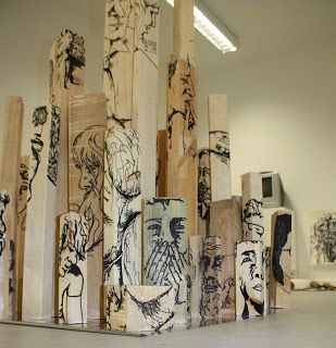 Bryony Houldsworth: Year 1- Experimental Drawing Project. Love the idea of something new and different like wood! At my old high school we could only paint on canvas/illustration board
