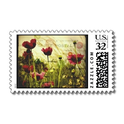 Vintage Floral Postage for postcards