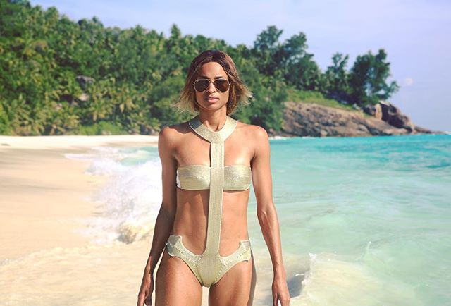 Pin for Later: Let These Photos of Stars in Their One-Pieces Inspire Your Next Swimsuit Purchase Ciara
