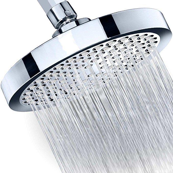 Shower Head Rainfall High Pressure 6 Rain High Flow Fixed