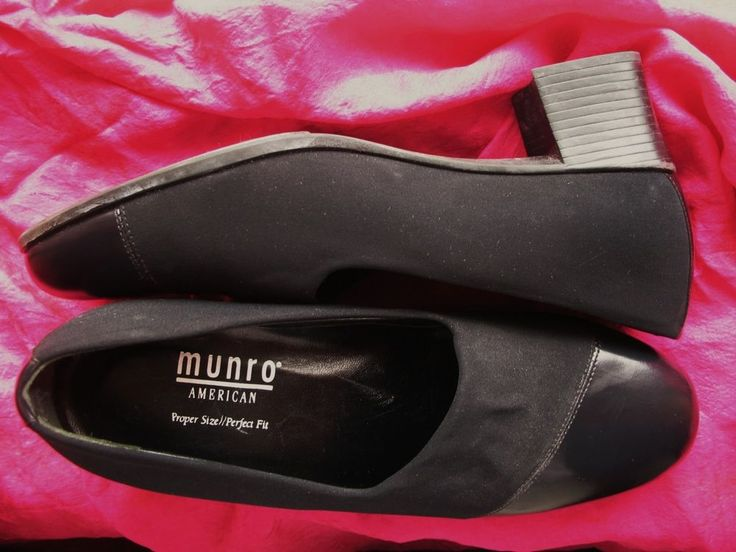 MUNRO SHOES BLACK FABRIC/LEATHER PUMPS ! SIZE 8.5 M/39 MADE IN USA ! #MUNRO #PumpsClassics #Casual