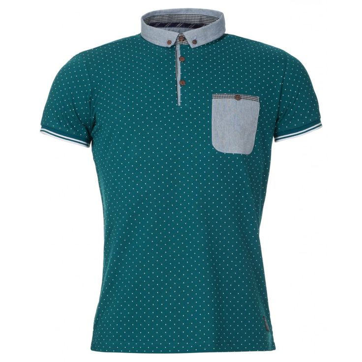 TS Heritage Mens Emerald Green Polka Dot Polo Shirt