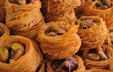 bulbul-nest-knafeh - also many other popular syrian sweet recipes in this website