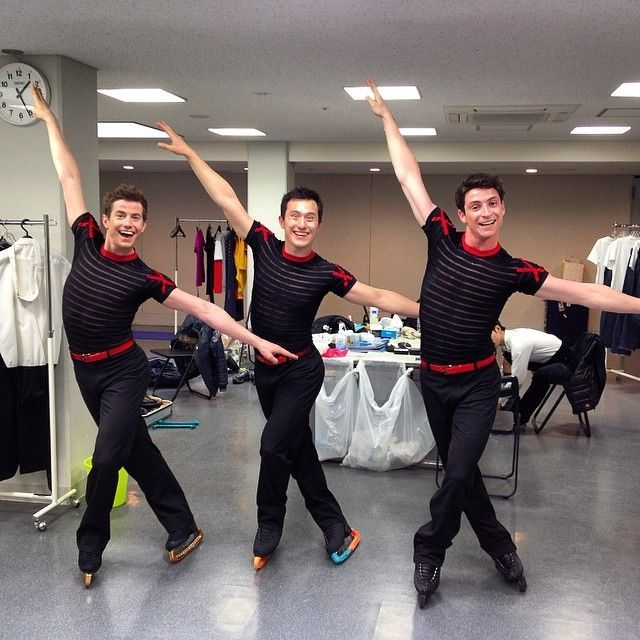Jefferey Buttle(USA),Patrick Chan(Canada) and Scott Moir(Canada)