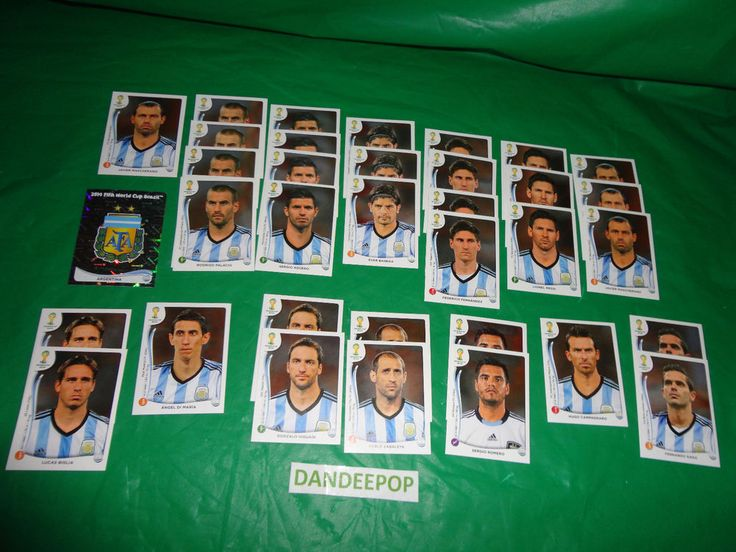 FIFA 2014 Panini World Cup Brazil set of 36 Argentina Soccer Team Stickers find me at www.dandeepop.com