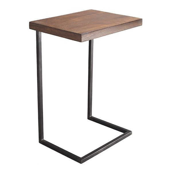 I've searched the internet far and wide for the perfect laptop table (for my clients and myself included who want a hard surface over the sofa or the lap for the computer). I do believe this is THE find. (Good price, good lines, great wood and iron mix.)