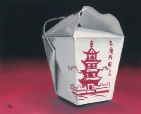 chinese food box daily painting -- Ria Hills