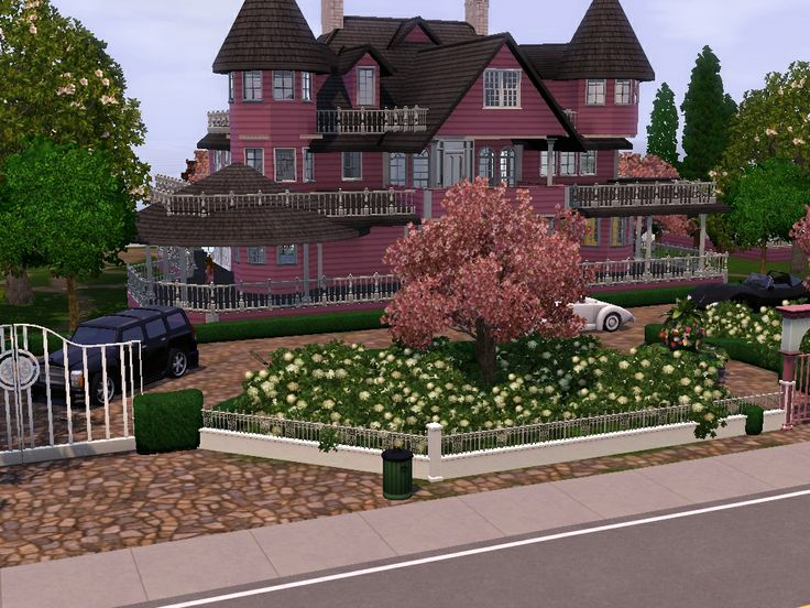 Pink Victorian Doll House Sims Mansion Simz