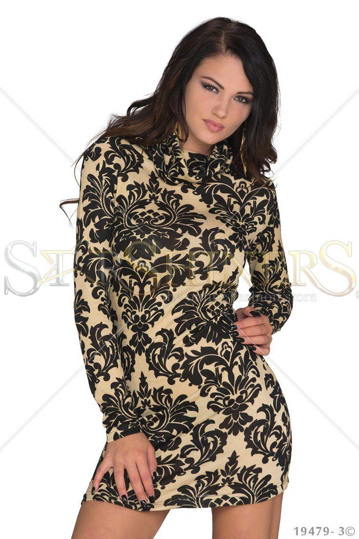 Hot Print Cream Dress