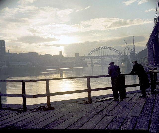 View of the Tyne Bridge, Newcastle upon Tyne, November 1959 (TWAM ref. DT.TUR/4/1302B). From Tyne & Wear Archives.