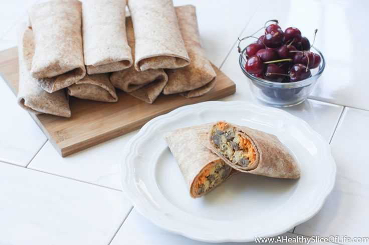 These healthy breakfast burritos are simple to make with their one-pan preparation and reheat in under two minutes!