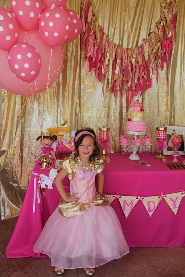 Goldilicious Pinkalicious Birthday Party via Kara's Party Ideas | KarasPartyIdeas.com #goldilicious #pinkalicious #birthday #party #supplies #ideas (6)