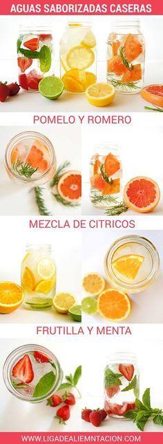 Aguas saborizadas caseras #recetas #verano Más