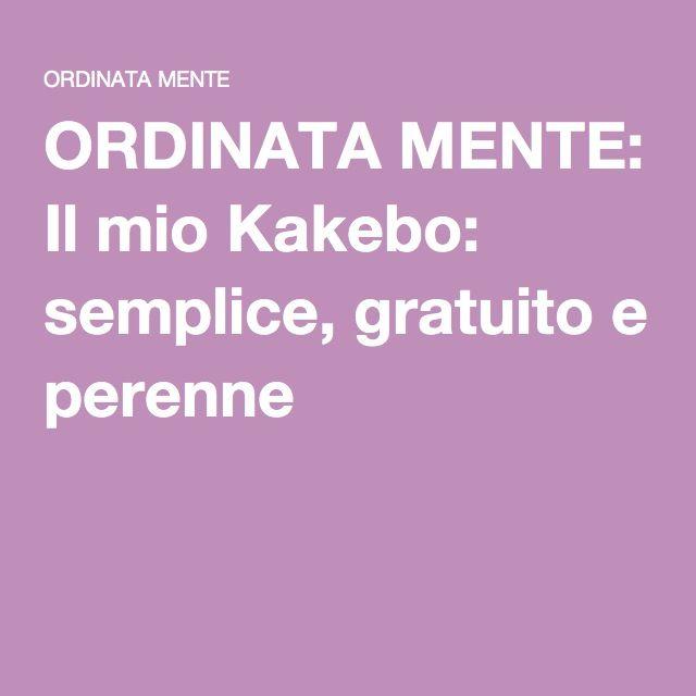 ORDINATA MENTE: Il mio Kakebo: semplice, gratuito e perenne