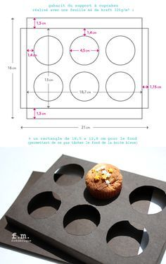 Make your own box for cupcakes