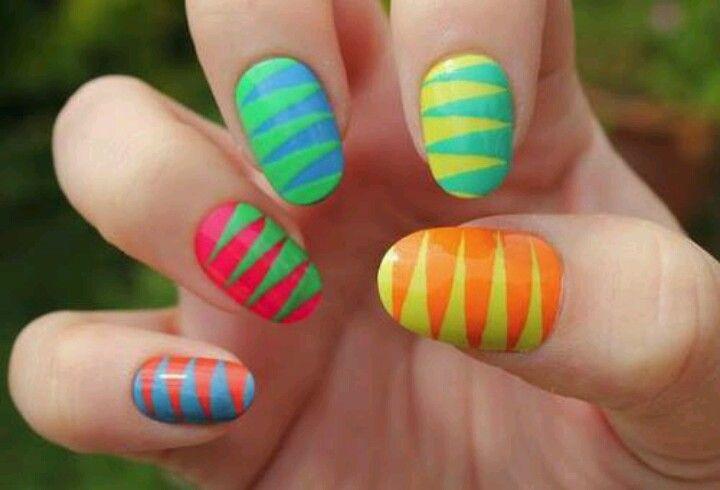 Uñas multicolor!
