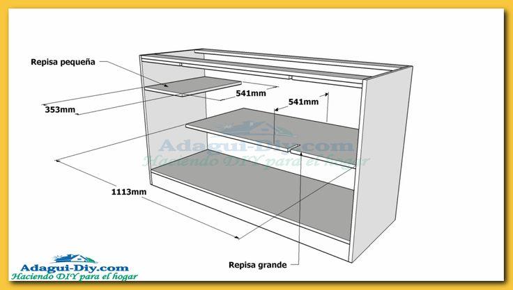 Como hacer muebles de cocina plano mueble bajo mesada de for Muebles de melamina