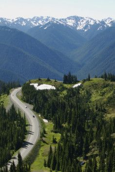 Drive down one of America's best scenic drives. Hurricane Ridge in Olympic National Park in Washington is breathtaking year round. #scenicwa