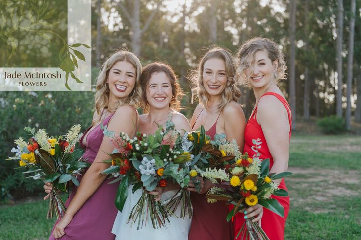 We love this shot of Ashley and her bridesmaids - so much happiness in one photo is almost too much. www.jademcintoshflowers.com.au euphoriafilms.com.au