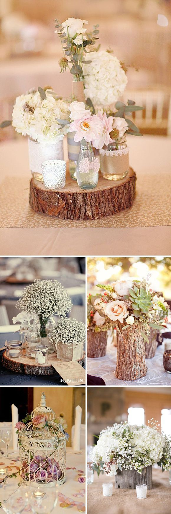 Gorgeous Rustic Ceterpieces that are smple and understated yet elegant. [www.belmontcountryclub.com/weddings] Ashburn, VA