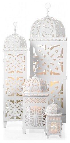 Casa Blancaf - Typical Moroccan design, beautiful in white (most often utilized at weddings). Just ordered two in cranberry red...already having several in other construction materials.  They're a magnet for a romantic (me)!
