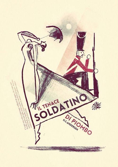 """""""il tenace soldatino di piombo"""" digital illustration Riccardo Guasco 2014"""