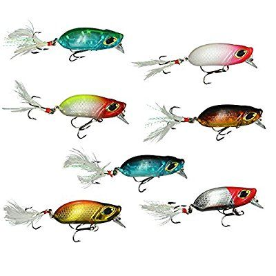 For Curtis... 7pcs Crankbait Lead Fishing Lure Fishing Wobbler Lure with Feather Treble hooks Bass Tackle (Lure With Feather)