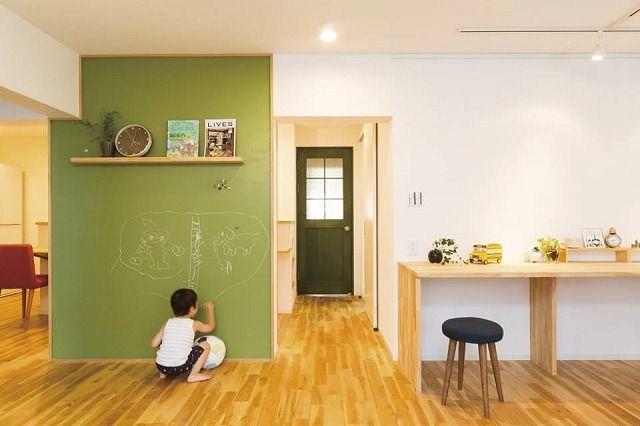 僕の家の壁は絵がかけるんだ | 自然派デザイン建築・リノベーションのエコハウス