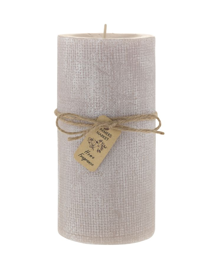 The neutral colour of this candle will work in any room of your home.