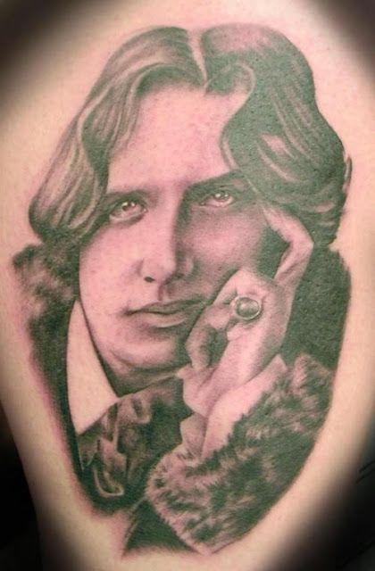 Tatuaje de Oscar Wilde