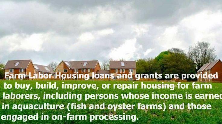 Rural Housing: Farm Labor Housing Loans And Grants